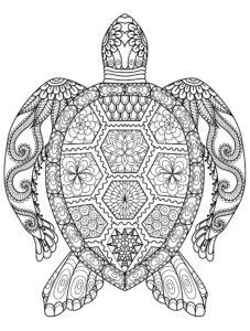 coloriage mandala animaux de la catégorie coloriage mandala