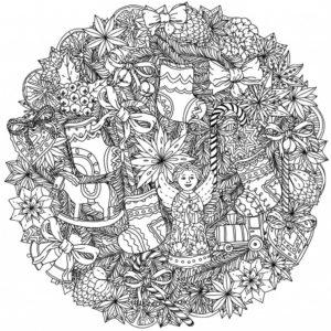 coloriage mandala noel a imprimer gratuit de la catégorie coloriage mandala