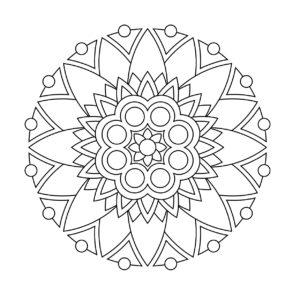 coloriage mandala facile en ligne de la catégorie coloriage mandala