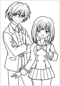 coloriage manga garçon de la catégorie coloriage manga