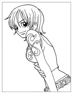 coloriage manga a imprimer one piece de la catégorie coloriage manga