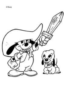 coloriage mickey et ses amis top départ de la catégorie coloriage mickey