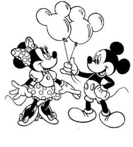 coloriage gratuit à imprimer mickey et minnie de la catégorie coloriage mickey