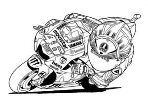 coloriage moto gp rossi de la catégorie coloriage moto