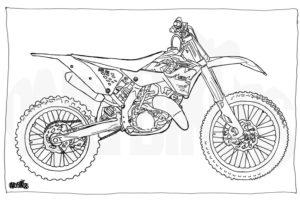 dessin coloriage moto cross ktm de la catégorie coloriage moto