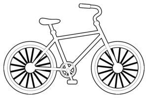 coloriage moto facile de la catégorie coloriage moto