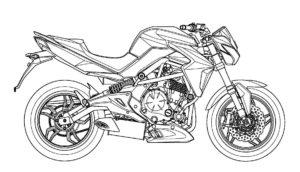 coloriage de moto kawasaki à imprimer de la catégorie coloriage moto