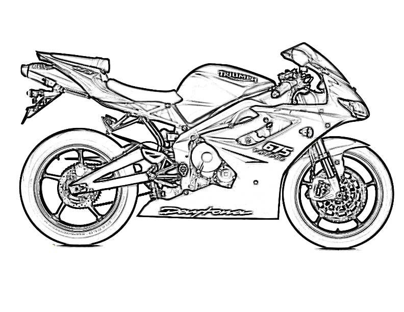 coloriage gratuit moto de course de la catégorie coloriage moto