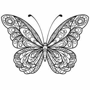 coloriage papillon mandala de la catégorie coloriage papillon