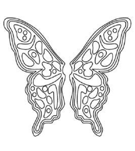 coloriage papillon simple de la catégorie coloriage papillon
