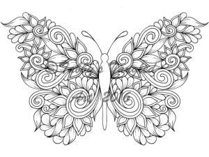 coloriage mandala papillon à imprimer gratuit de la catégorie coloriage papillon