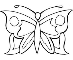 coloriage papillon facile a faire de la catégorie coloriage papillon