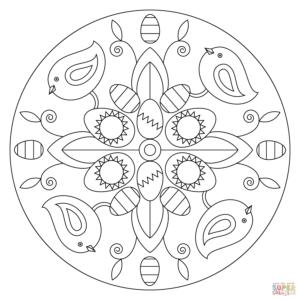 coloriage paques mandala de la catégorie coloriage paques