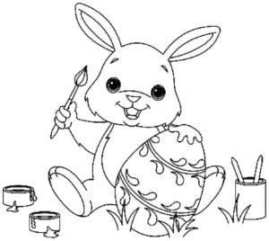 image coloriage lapin paques de la catégorie coloriage paques