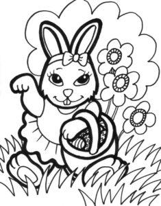 coloriage gratuit à imprimer lapin de paques de la catégorie coloriage paques