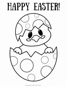 coloriage oeuf de paques facile a imprimer de la catégorie coloriage paques