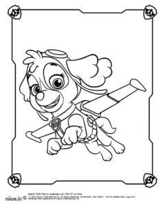 dessin à colorier pat patrouille stella de la catégorie coloriage pat patrouille