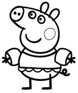 coloriage peppa pig de la catégorie coloriage peppa pig