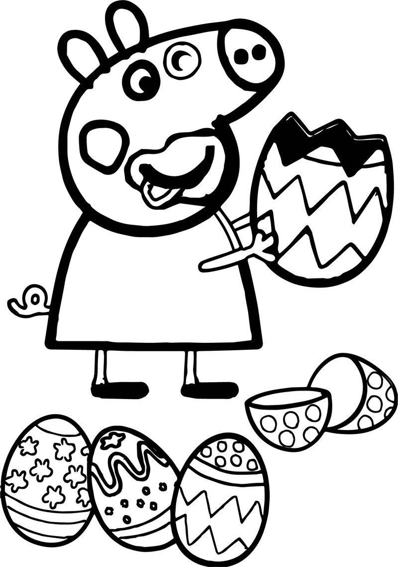 coloriage peppa pig paques de la catégorie coloriage peppa pig