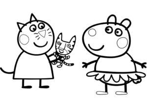 coloriage peppa pig à imprimer pdf de la catégorie coloriage peppa pig