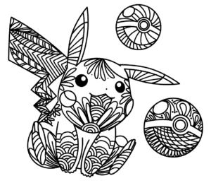 coloriage pikachu mandala de la catégorie coloriage pikachu