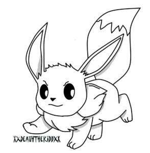 coloriage à imprimer pikachu et evoli de la catégorie coloriage pikachu