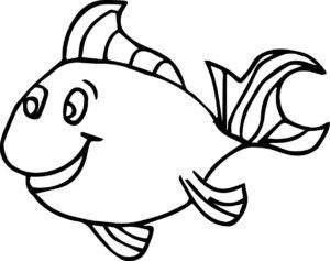 coloriage à imprimer gratuit de poisson d'avril de la catégorie coloriage poisson