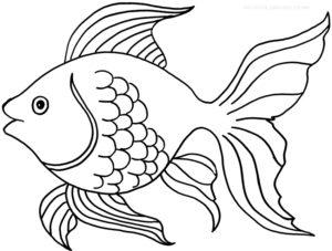 poisson rouge coloriage à imprimer de la catégorie coloriage poisson