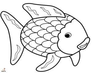 poisson arc en ciel colorier de la catégorie coloriage poisson