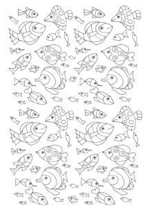 coloriage petit poisson a imprimer de la catégorie coloriage poisson