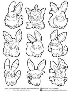 dessin pokemon evoli evolution de la catégorie coloriage pokemon