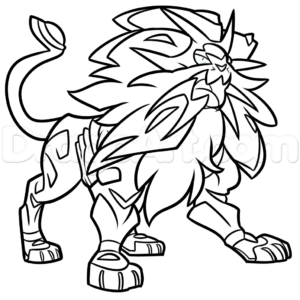 dessin pokemon solgaleo a imprimer de la catégorie coloriage pokemon
