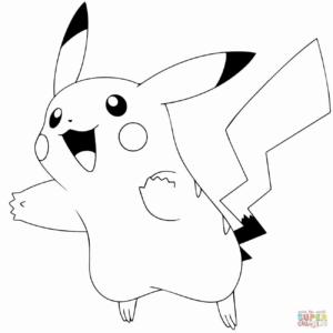 coloriage pokemon pikachu kawaii de la catégorie coloriage pokemon