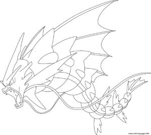 coloriage pokemon leviator imprimer de la catégorie coloriage pokemon