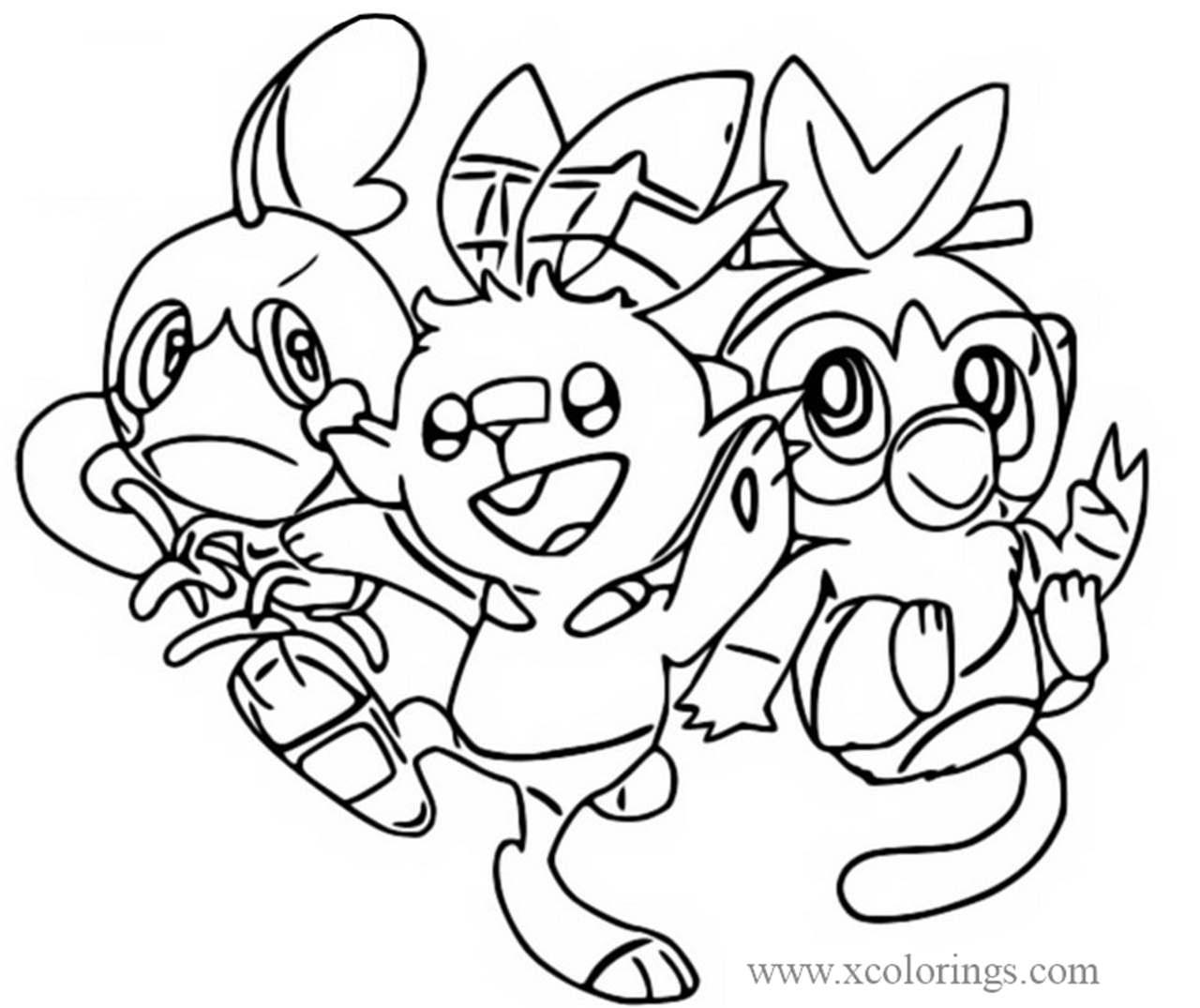 coloriage pokemon epee et bouclier pyrobut de la catégorie coloriage pokemon