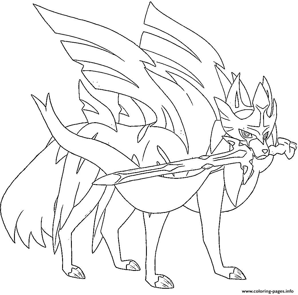 coloriage pokemon epee zacian de la catégorie coloriage pokemon