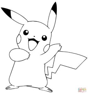 coloriage pokemon pikachu catcheur de la catégorie coloriage pokemon