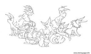 coloriage pokemon evoli evolution de la catégorie coloriage pokemon