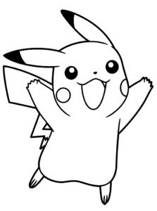 coloriage pokémon pikachu de la catégorie coloriage pokemon