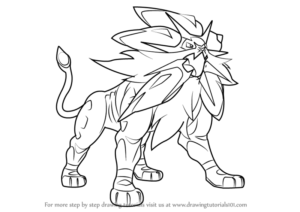 dessin pokemon ultra solgaleo de la catégorie coloriage pokemon