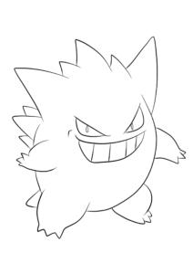 coloriage pokemon ectoplasma gigamax de la catégorie coloriage pokemon