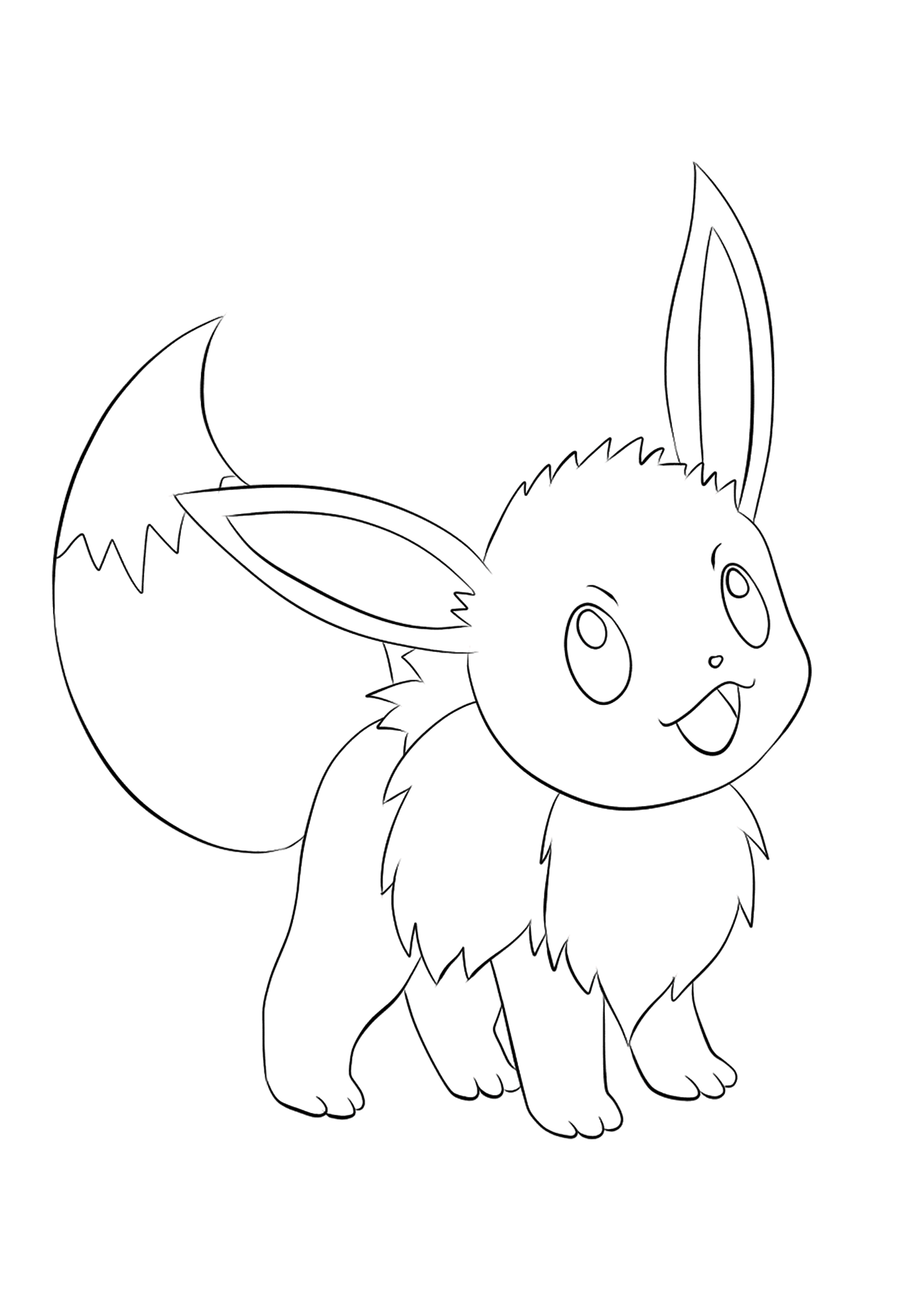 coloriage pokemon evoli de la catégorie coloriage pokemon