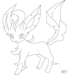 dessin pokemon evoli et ses evolution de la catégorie coloriage pokemon