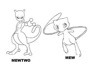 coloriage pokemon légendaire mewtwo de la catégorie coloriage pokemon