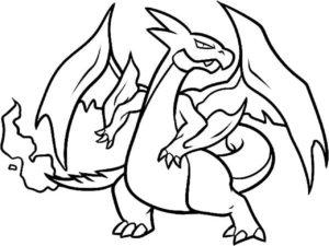coloriage pokemon dracaufeu en couleur de la catégorie coloriage pokemon