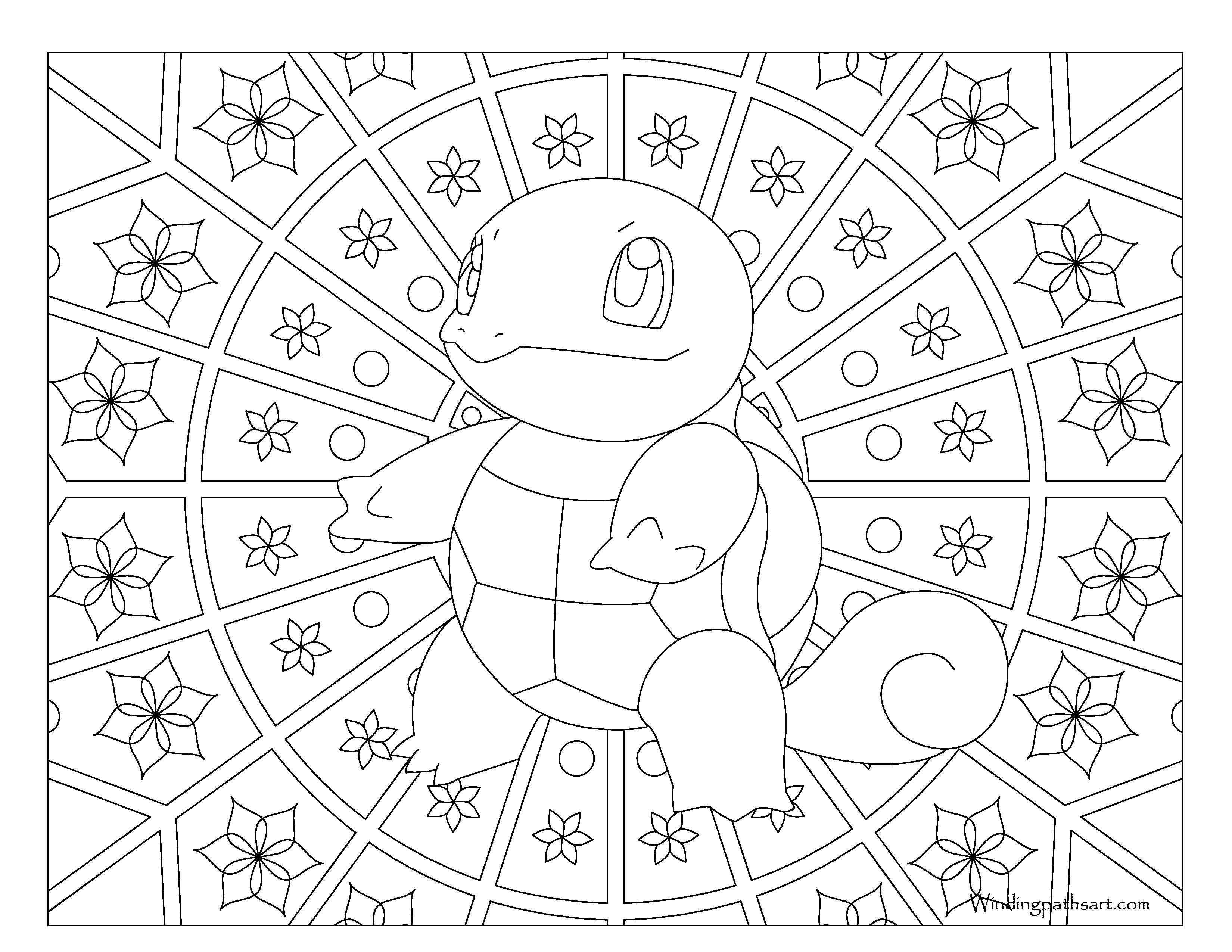 coloriage pokemon mandala à imprimer de la catégorie coloriage pokemon