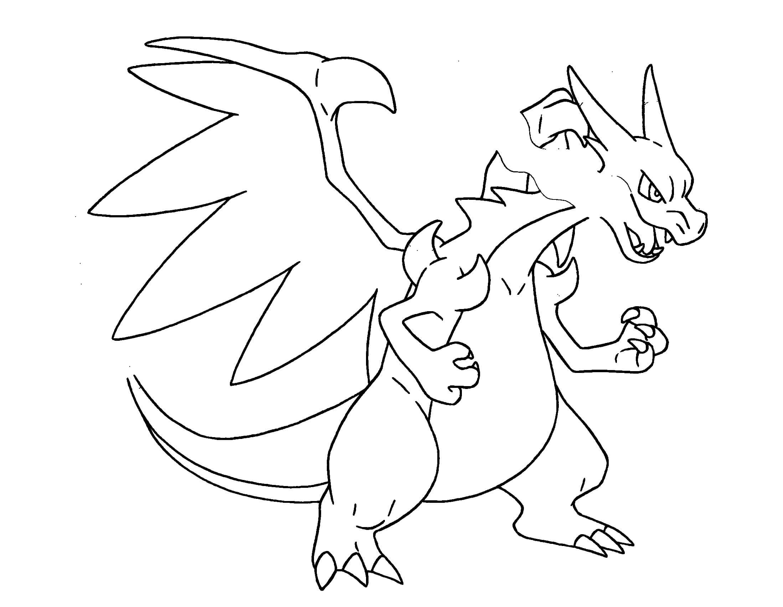 coloriage pokemon mega dracaufeu x de la catégorie coloriage pokemon