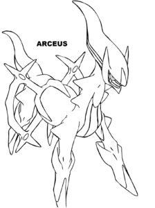 coloriage pokemon arceus a imprimer gratuit de la catégorie coloriage pokemon