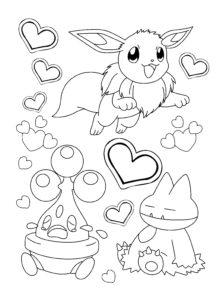 coloriage pokemon évolution d'évoli de la catégorie coloriage pokemon