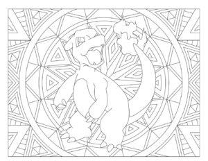 coloriage pokemon mandala de la catégorie coloriage pokemon